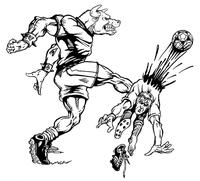 Soccer Bull Mascot Decal / Sticker 1