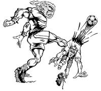 Soccer Comets Mascot Decal / Sticker 2