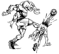 Soccer Elephants Mascot Decal / Sticker 1