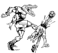Soccer Gators Mascot Decal / Sticker 2