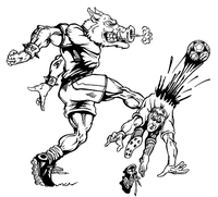 Soccer Razorbacks Mascots Decal / Sticker 1