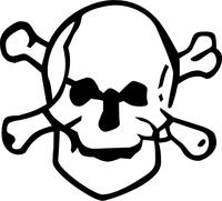 Skull and Cross Bones Decal / Sticker 09
