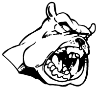 Bulldogs Mascot Decal / Sticker