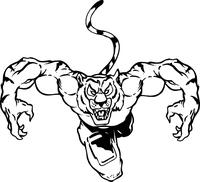 Tigers Football Mascot Decal / Sticker 07