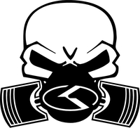 KIA Piston Gas Mask Skull Decal / Sticker 05