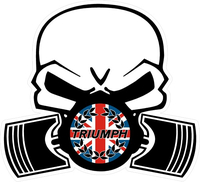 Triumph Piston Gas Mask with British Flag Decal / Sticker 41