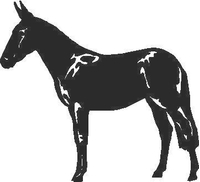 Jackass (mule)  Decal / Sticker