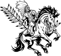 Chiefs Mascot Decal / Sticker on Horse