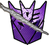 Torn / Ripped Decepticon Decal / Sticker