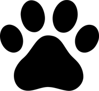 Cat Paw Print Decal / Sticker 02