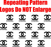 Chanel Step and Repeat Pattern Decal / Sticker 06