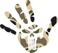 Camouflage Punisher Jeep Wave Decal / Sticker 166
