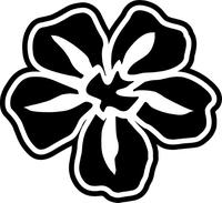 Dove Flower Decal / Sticker 08