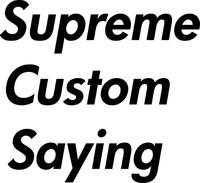 Custom Supreme Lettering Decal / Sticker 10
