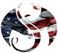 Strange Music American Flag Decal / Sticker 02