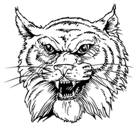 Wildcats Mascot Decal / Sticker 2