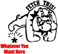 Z1 Fetch This Pee on Dog Decal / Sticker