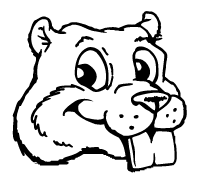Beavers Mascot Decal / Sticker