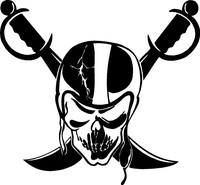 Raider Nation Decal / Sticker 01