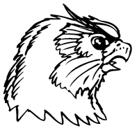 Owls Mascot Decal / Sticker 4