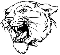 Cougars / Panthers Mascot Decal / Sticker 4