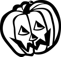 Jack-O-Lantern Decal / Sticker 05