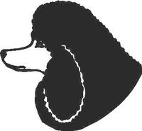 Poodle Decal / Sticker 01