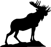 Moose Decal / Sticker 02