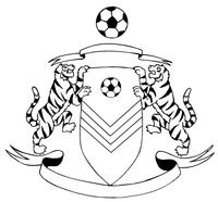 Tigers Soccer Mascot Decal / Sticker