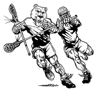 Lacrosse Bears Mascot Decal / Sticker 4