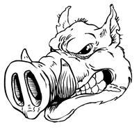 Razorbacks Mascots Decal / Sticker 6