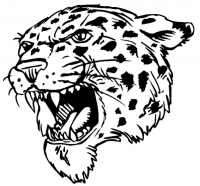 CUSTOM LEOPARDS MASCOT DECALS AND LEOPARDS MASCOT STICKERS