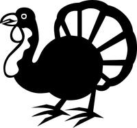 Turkey Decal / Sticker 03