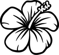 Hibiscus Flower Decal / Sticker 03