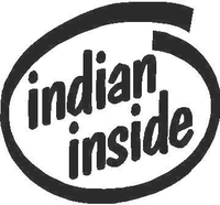 Indian Inside Decal / Sticker