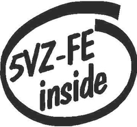 Toyota 5VZ-FF Inside Decal / Sticker