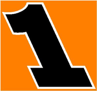 1 Race Number Rockwell Extra Bolt 2 Color Decal / Sticker