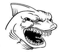 Sharks Mascot Decal / Sticker 5