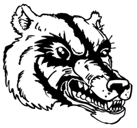 Wolverines / Badgers Mascot Decal / Sticker 5