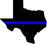 Texas Thin Blue Line Blue Lives Matter Decal / Sticker 07