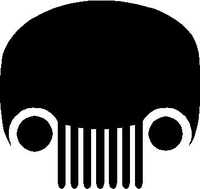 Jeep Skull Decal / Sticker