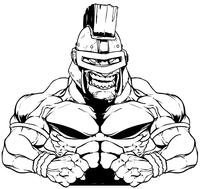 Trojans Weightlifting Mascot Decal / Sticker