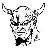 Devils Mascot Decal / Sticker 6