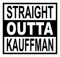 Straight Outta Kauffman Royals Decal / Sticker 02