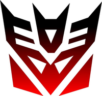 Black fade to Red Decepticon Decal / Sticker