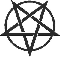 Pentagram Decal / Sticker 02