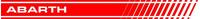 Fiat Abarth Stripes Decal / Sticker 41