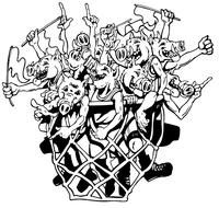 Razorbacks Basketball Mascot Decal / Sticker