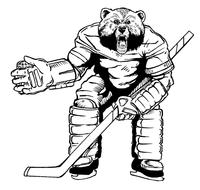 Hockey Bears Mascot Decal / Sticker