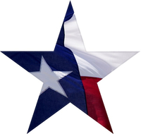 Texas Flag Star Decal / Sticker 01